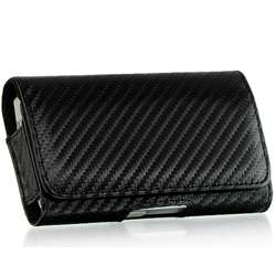 iPhone 3G/ 3GS Premium Carbon Fiber Style Horizontal Case with Free