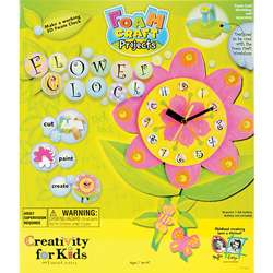 Foam Craft Projects Flower Clock Kids Craft Set