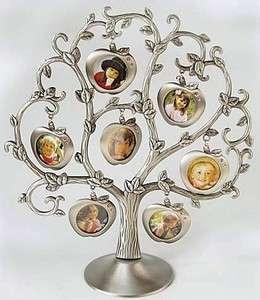 Elegant Classic Tin Family Photo Picture Frame Tree Antique Deco Art