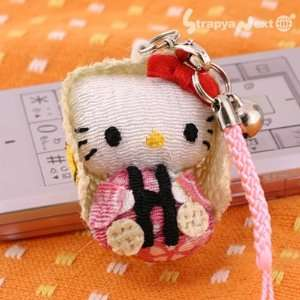 Sanrio Hello Kitty Yukinko Chirimen Plush Doll Cell Phone