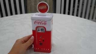 Cola Vending Machine Bank Tin Coke Metal Gift Coca Cola Beverage Drink