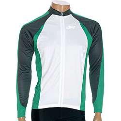 ETA Mens Long Sleeve Green/ White Cycling Jersey