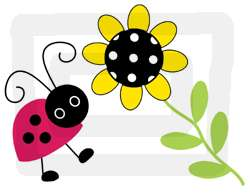 LADYBUGS LADY BUG FLOWER BABY WALL BORDER STICKER DECAL