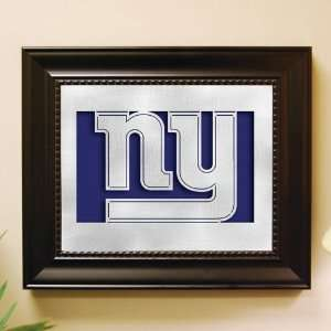 New York Giants Framed Laser Cut Metal Wall Art  Sports