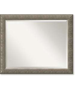 Barcelona Pewter Wall Mirror   Large