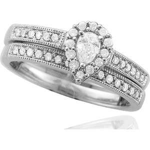 Carat T. W. Pear Shaped Bridal Diamond Ring