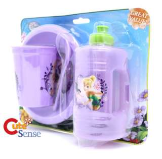 Tinkerbell Fairies Dinner ware Bowl Tumbler 4pc Set