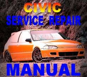 1995 Civic/Del Sol Service Repair Manual D16Z6 +BONUS