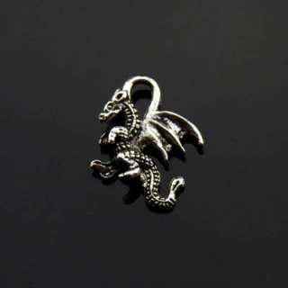 30Pcs Tibetan Silver Flying Dragon Charms Pendants 20x15mm KA4395