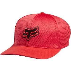 Fox Racing Fox Tech Mens Flexfit Casual Wear Hat/Cap   Red / X Small