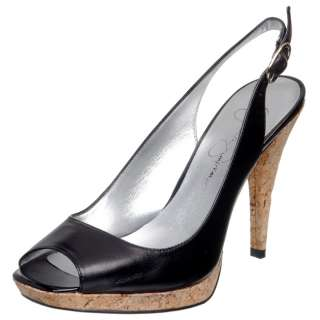 Jessica Simpson Womens Black Hanson High Heels