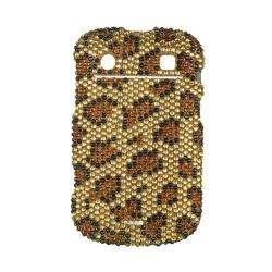 Premium BlackBerry Bold Touch 9900/ 9930 Gold Leopard Rhinestone Case