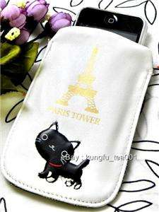 Wara Heko Black Cat Eiffel Tower iPhone Camera Case Bag
