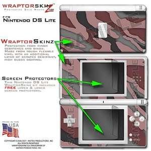 Nintendo DS Lite Camouflage Pink WraptorSkinz Skin Kit by