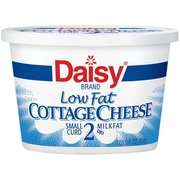 Curd Cottage Cheese, 16 oz Daisy Low Fat 2% Milkfat Small Curd Cottage