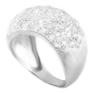 Dreamy Dome Shaped Silver Wedding Ring, Crafted with High