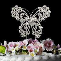 Vintage Style Crystal Butterfly Cake Topper