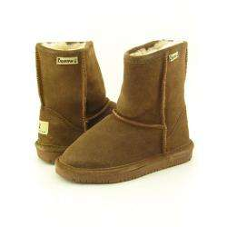 Emma Girls Brown Hickory/Champagne Winter Boots