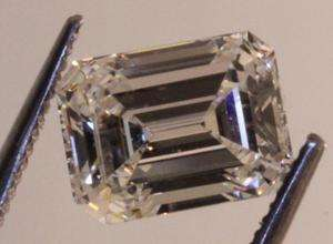 loose GIA certified emerald cut 2.55ct diamond VS1 G vintage estate
