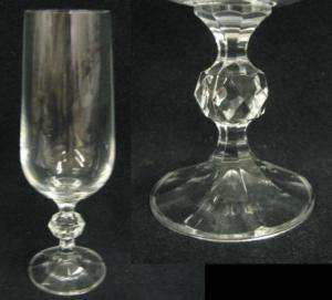 IMPORT ASSOCIATES CRYSTAL Claudia SET 4 CHAMPAGNE FLUTE