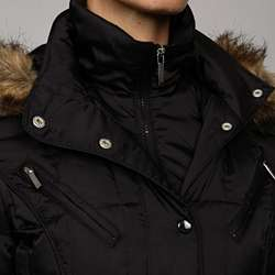 Laundry by Shelli Segal Womens Down Faux Fur Hood Jacket