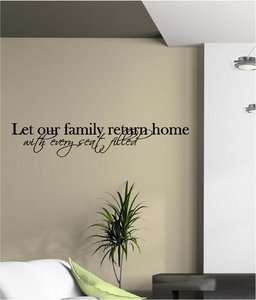 Family Return Home Vinyl Wall Decor Sticker Decal Quotes