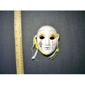 Ceramic Mini Mardi Gras Face Mask for Wall   201 B