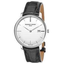 Frederique Constant Mens Slim Line Silver Dial Watch