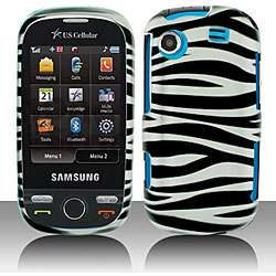 White Zebra Samsung Messager Touch Protector Case