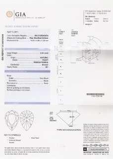 Fancy Pinkish Purple Natural 0.45 Carat Diamond GIA Certificate