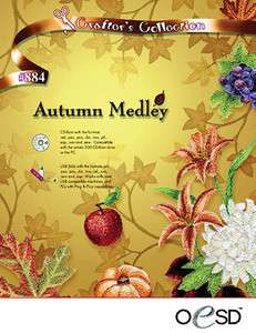 OESD Autumn Medley Embroidery Software CD CD 884