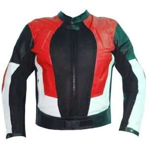 POWER MENS MOTORCYCLE LEATHER JACKET ARMOR RED XXL Automotive