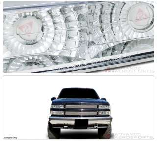 92 99 CHEVY GMC C10 SUBURBAN BUMPER LIGHTS SIGNAL LAMPS