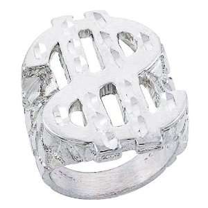 Ring Dollar Sign Nugget Ring For Man 34MM ( Size 8 to 13) Size 10.5