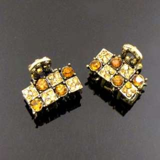 Item  2pc Austrian rhinestone crystal antiqued hair claw