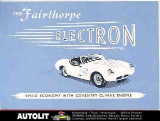 1956 Fairthorpe Electron Fiberglass Kit Car Brochure