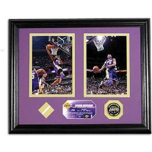 Lakers Highland Mint All Stars Photo w/ Game Used Net