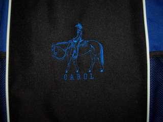 Western Pleasure QUARTER HORSE Blue Tote Bag Trail NEW