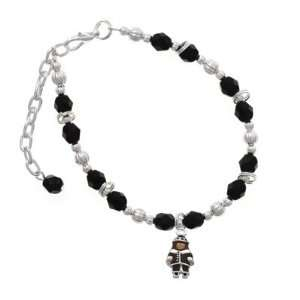 Pilgrim Boy Black Czech Glass Beaded Charm Bracelet [Jewelry] Jewelry