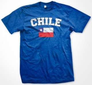 Chile World Cup Soccer Chilean Pride Flag Mens T Shirt