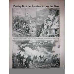 1918 WW1 Italian Soldiers Piave Austrians Battle Field
