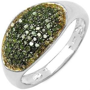 0.55 ct. t.w. Genuine Green and Yellow Diamond Ring in