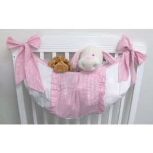 Babykins Pink Gingham Baby Girl Nursery Toy Bag Baby