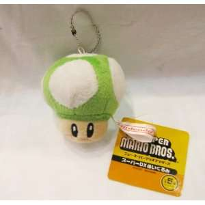 Super Mario Green Mushroom Plush 2 keychain Everything