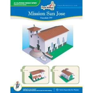 California Mission San Jose 10 x 13 Paper Model (California Missions)
