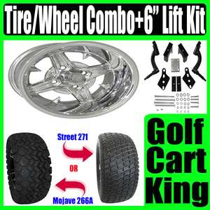 Club Car Precedent Golf Cart Lift Kit+ Wheel+Tire Combo