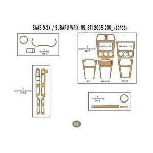 Subaru Impreza WRX STi Dash Trim Kit 05 up   19 pieces   Green Carbon