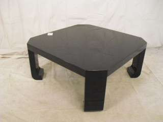 Asian Style Black Lacquer Square Coffee Table (9119)*.