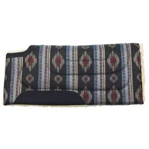 Mesa Herculon Cut Back Saddle Pad   Black/Blue  Sports