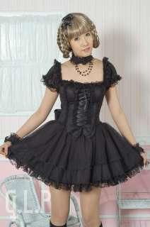 PUNK NANA Kera GOTHIC DOT DOLLY 81027 BLACK DRESS +NECKBAND S L